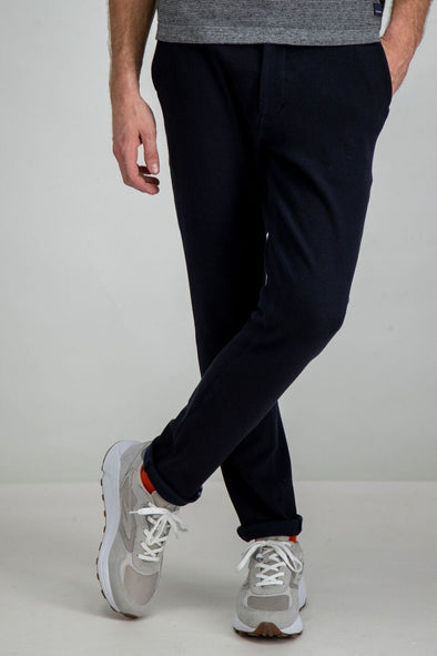 Garcia Dark Blue Stretch Pant - Dark Moon - I91116 292