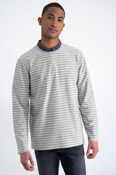 **Small size only** Garcia Striped shirt - Granite Melee - M01010 3012