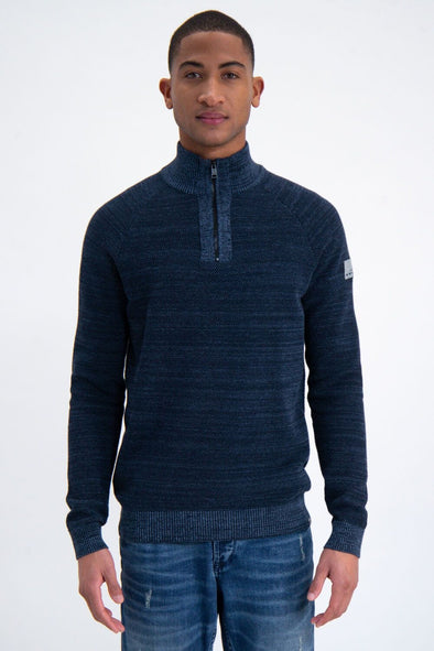 Garcia Blue 1/4 Zip Sweater - Blue Spring - M01042 3023