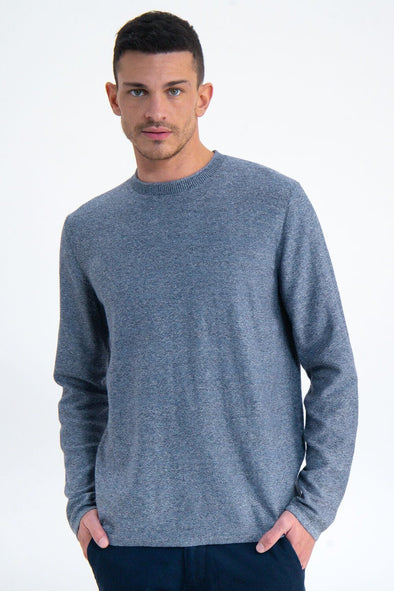 *Size Small Only* Garcia Rolled Edge Neck Sweater - Blue Spring - M01046 3023