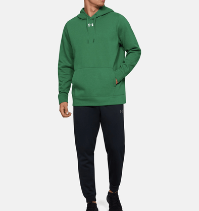 Under Armour Hustle Fleece Hoodie - Green - 1300123 - 305
