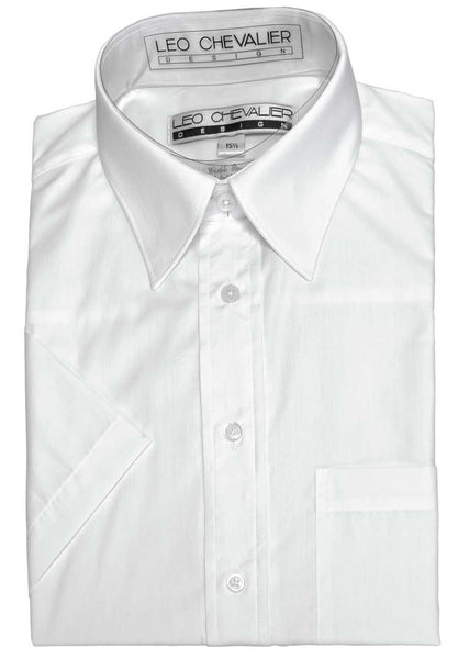 Leo Chevalier Dress Shirt - White Short Sleeve