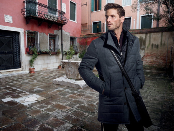 S. Cohen Weather Report Overcoat - Mountain 3122006 - Grey