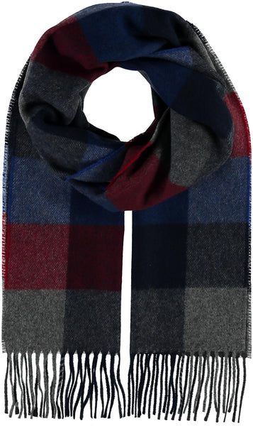 Fraas Box Plaid Royal Scarf 318011 560