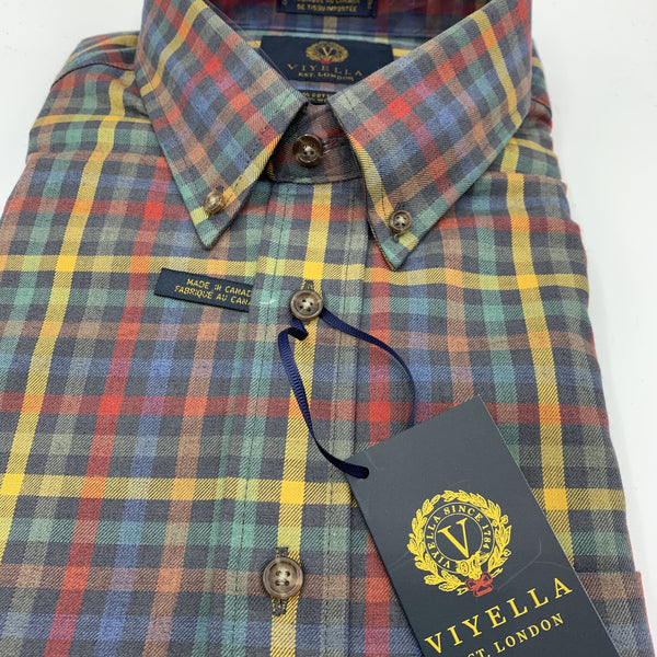 Viyella 80/20 Stewart Dress Sport Shirt- Multi Colour Traditional Fit - 553410 9098