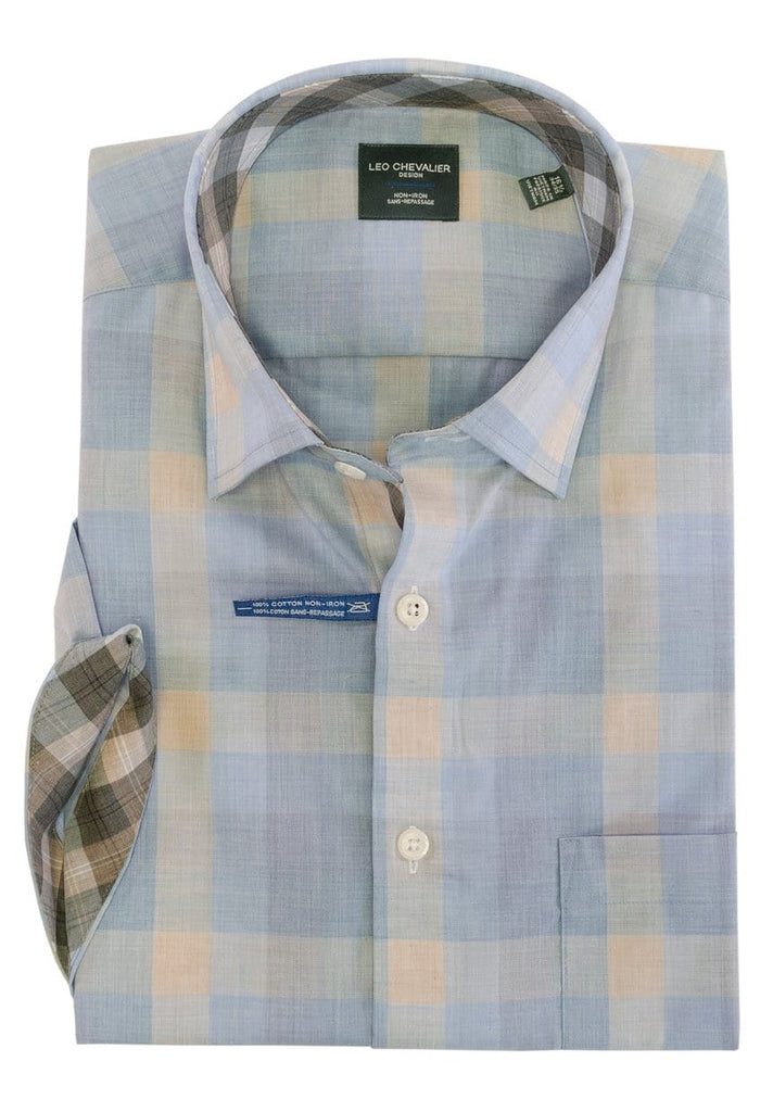 Leo Chevalier Short Sleeve Sport Shirt - 522378 1300