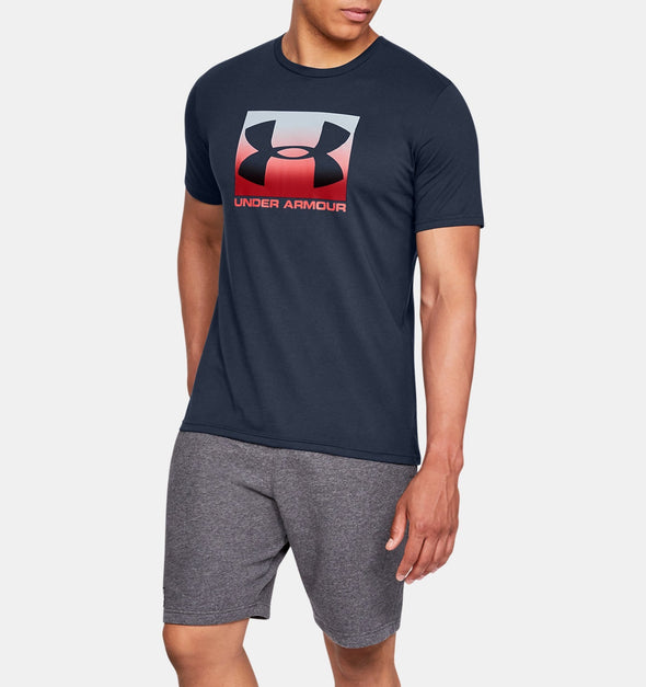 Under Armour T-Shirt - Academy Blue/Red - 1329581 - 408