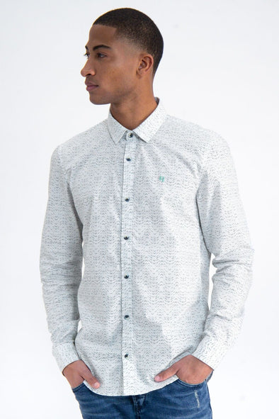 Garcia White Shirt with Allover Print - M01031 50