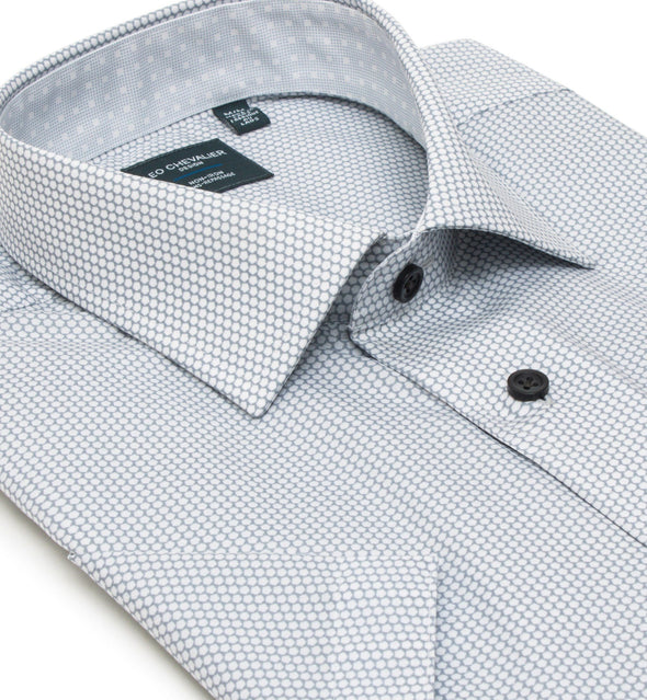 *Tall Sizes* Non-Iron Print Spread Collar S/S Sport Shirt - 524353 3200