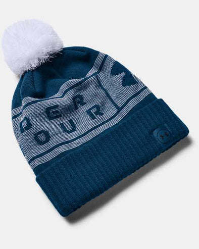Copy of Under Armour Big Logo Pom Touque - Blue - 1356711 581