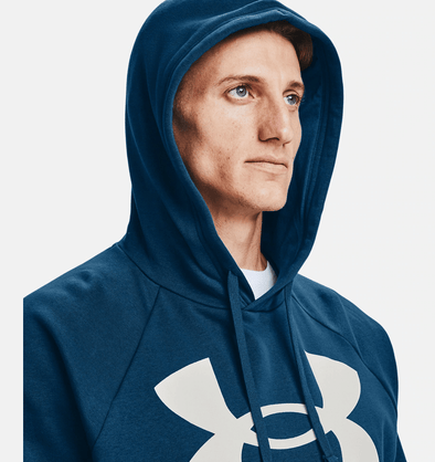 Under Armour Rival Fleece Big Logo Hoodie - Graphite Blue - 1357093 581