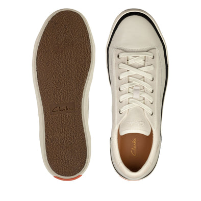 Clark's Aceley Lace White Canvas Shoes - 26158549