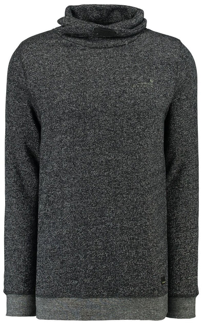 Garcia Exaggerated Mock Neck Sweater - Black - H91265 60