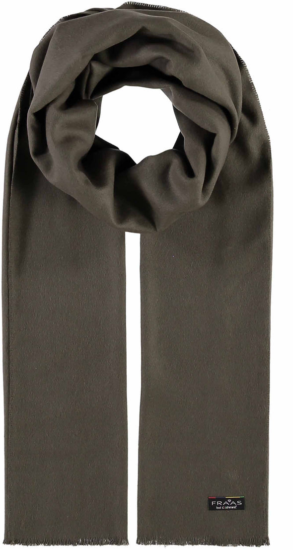 Fraas Cashmink Scarf -Solid Color- Olive 627651 760