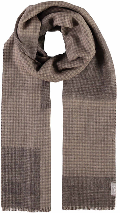 Fraas Glencheck Scarf - Tan  686021 860