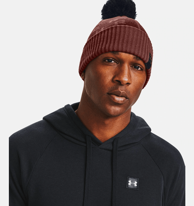 Under Armour Big Logo Pom Touque - Cinna Red - 1356711 688