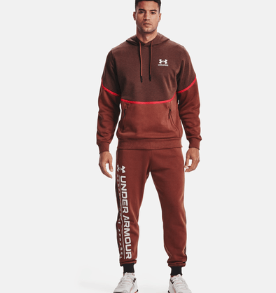 Under Armour Rival Fleece AMP Hoodie - Cinna Red - 1357090 688