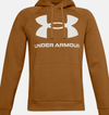 *Tall Sizes* Under Armour Rival Fleece Big Logo Hoodie - Yellow Ochre - 1357093 707