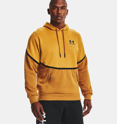 Under Armour Rival Fleece AMP Hoodie - Golden Yellow - 1357090 711