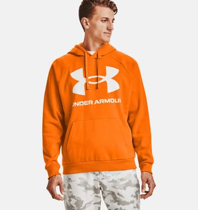 Under Armour Rival Fleece Big Logo Hoodie - Vibe Orange - 1357093 850