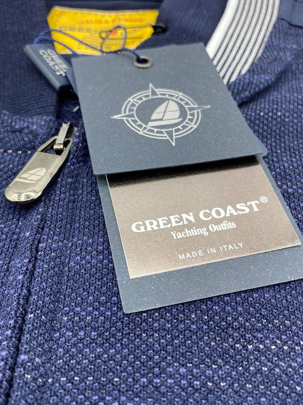 Green Coast Italian Zip Sweater 4005 Blu