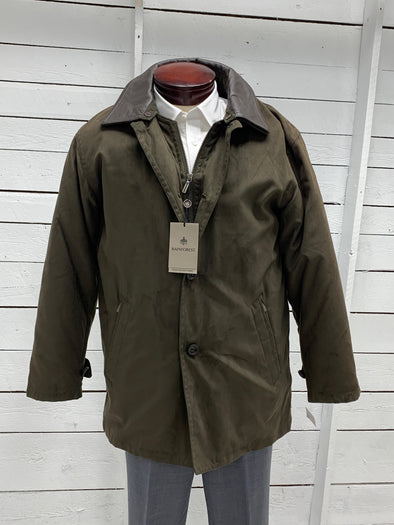 Rainforest Green Jacket with Leather Collar RF3262 FIR Size Small