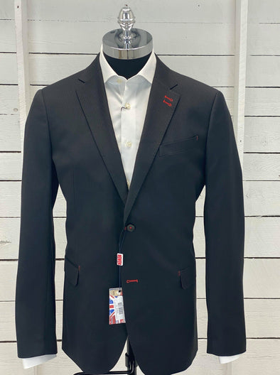7 Downie Street Sports Coat Benjamin Black Long Sizes Only
