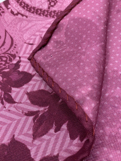 Dion pocket square Fuchsia Shadow -  100% silk