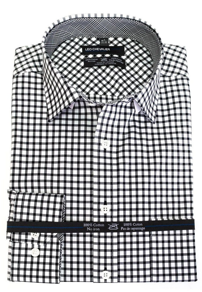 Bold Black Check Wow - Leo Chevalier Dress Shirt