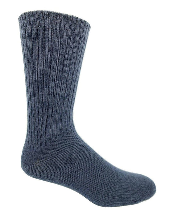 "J.B. Field's ""Wool Weekender"" 96% Merino Wool Sock - Blue Mix 52 - 8781 8783 6781"