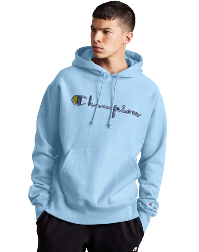 Champion Reverse Weave 3D Stitch Hoodie - Candid Blue - GF68 586047