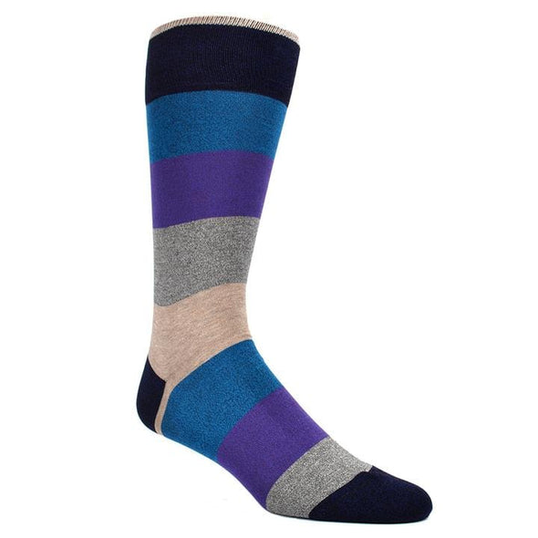 Dion Dress Socks Blue Grey Purple Striped 0120 04