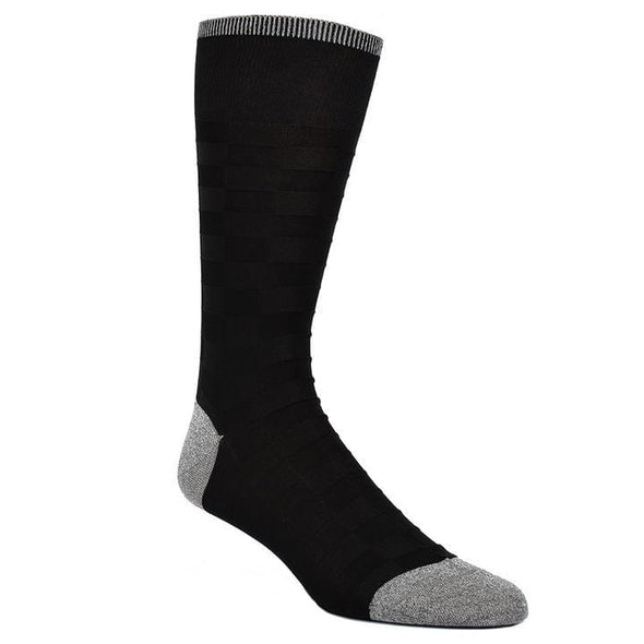 Dion Dress Socks Black Grey Checkered Board 1720 04