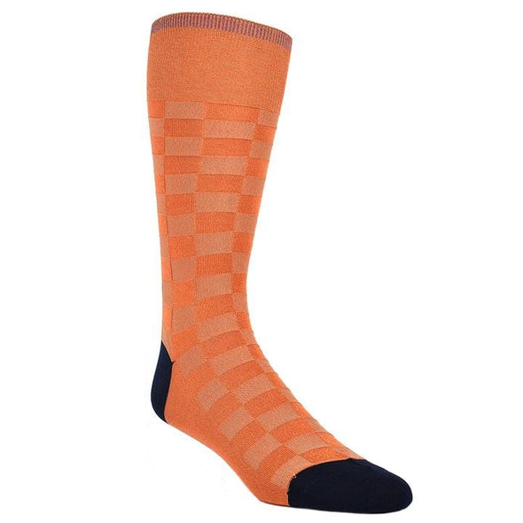 Dion Dress Socks Orange Checkered Board 1720 06