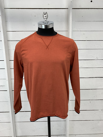 Borgo28 Double Raw-Edge L/S Tee - Rust - BHY0K909 222