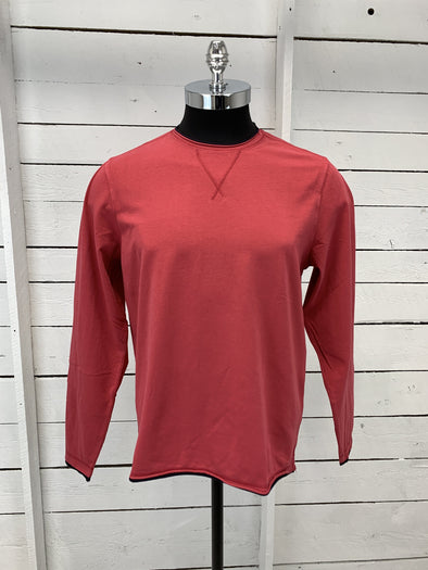 Borgo28 Double Raw-Edge L/S Tee - Raspberry - BHY0K909 658