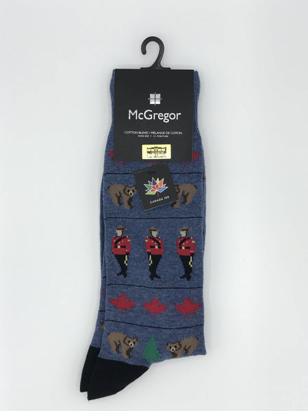 McGregor Canadiana Mountie Socks - MMC161