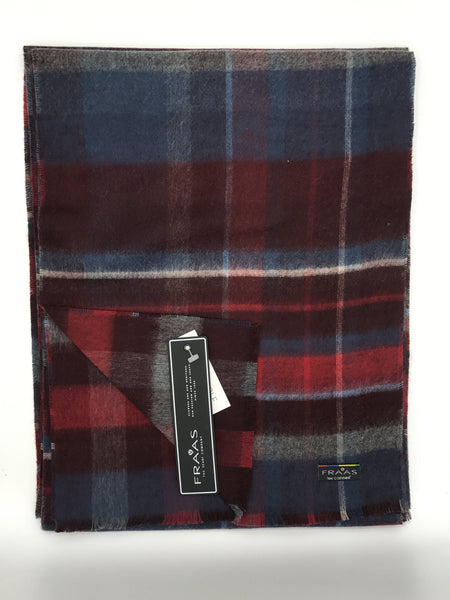 Fraas Reversible Check Scarf - 704412