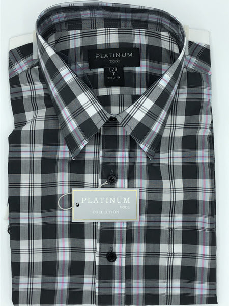 Platinum Big and Tall Short Sleeve Sport Shirt EN261400KT
