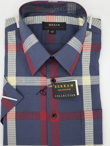 Berkam Big and Tall Short Sleeve Sport Shirt 8271450KT