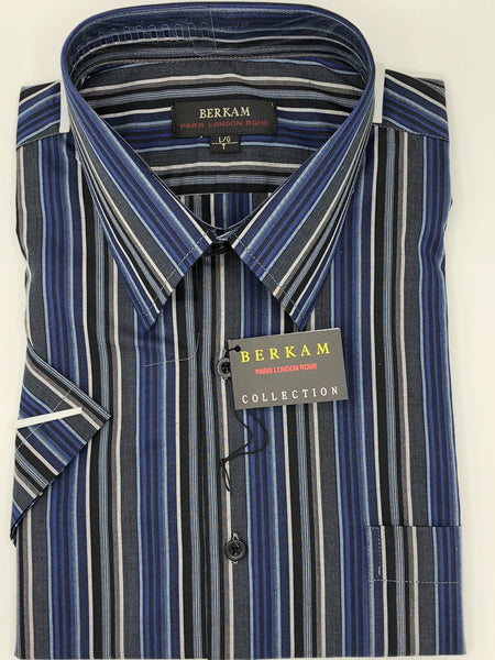 Berkam Big and Tall Short Sleeve Sport Shirt 8141500KT