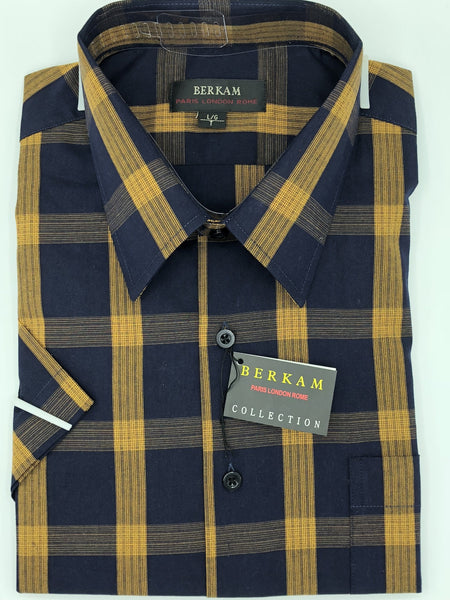 Berkam Big and Tall Short Sleeve Sport Shirt 8311450KT