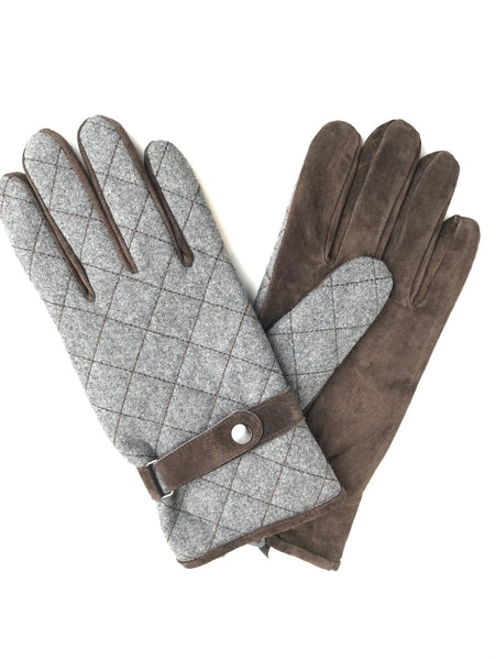 Quilted Thinsulate Glove - Suede Palm