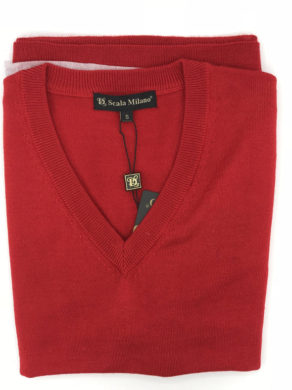 Scala Milano Sweater Vest - STC-003 Red