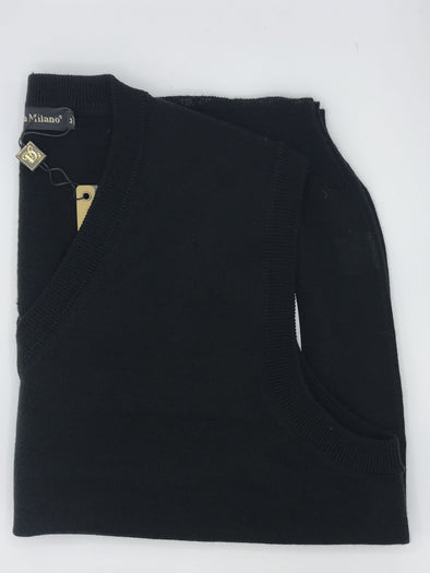 Scala Milano Sweater Vest - STC-003 Black
