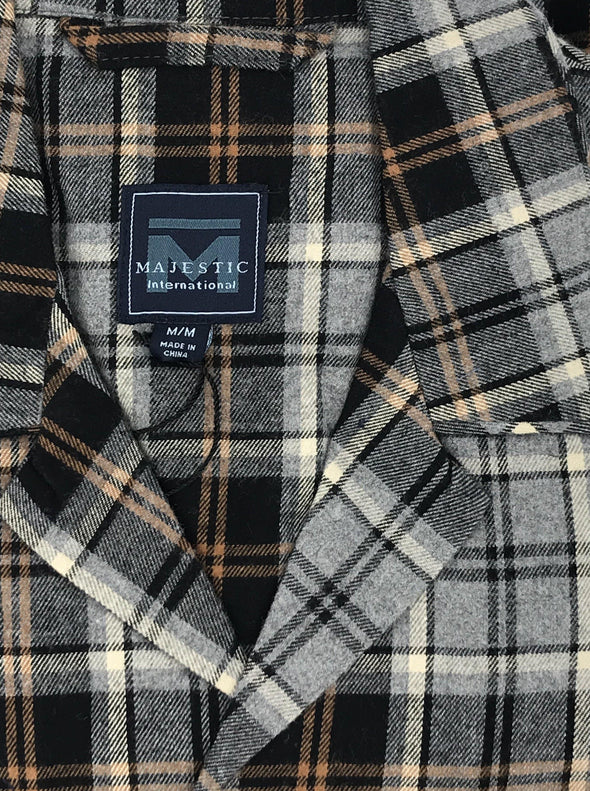 Majestic Dark and Stormy Flannel Pajama - Charcoal 11825190 030
