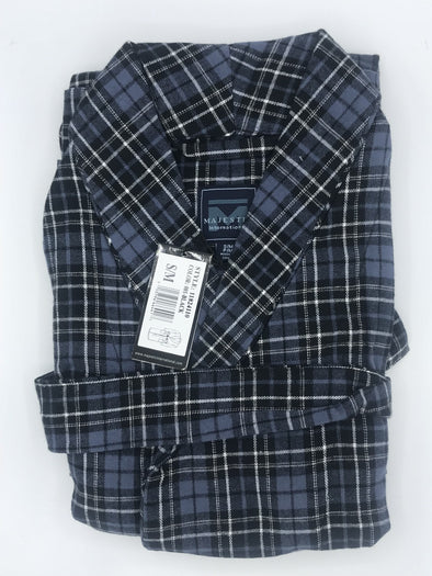 Majestic True Match Flannel Shawl Robe 11824110 001 Black