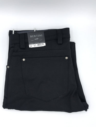 Bertini Soft Pinpoint Pant Black M1601M097 001