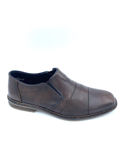 Rieker Dark Brown Slip On Shoe B1765-25