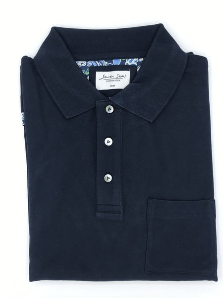 Seven Seas Polo Shirt S19461 Pete Navy